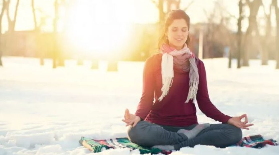Meditation in the snow